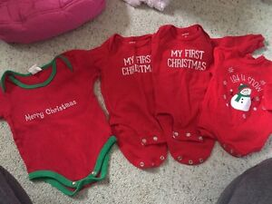 Christmas onesies size 3months $8 for all 4