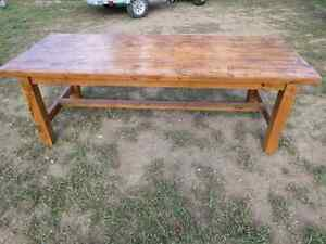 Big harvest style table. Extremely solid, handmade. Peterborough Peterborough Area image 4