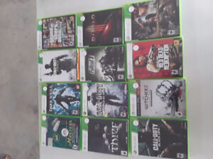 Assorted Xbox 360 games $10 each. Take the lot for $100 !