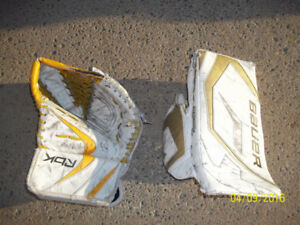 Junior Goalie RH Blocker (Bauer) and LH Trapper (RBK)