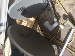 2 Satellite Dishes, Receivers and Modems (2 of each) Bell HD PVR