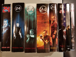 All 8 seasons of 24 with Kiefer Sutherland