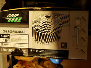 Coiled roofing nails