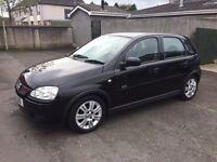 2006 Vauxhall Corsa active 1.2 16v, 5 door, black.