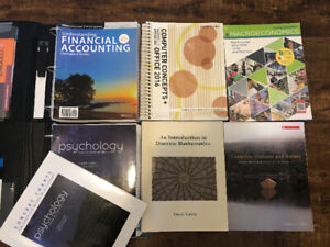 First Year Business, Math & Psych Textbooks