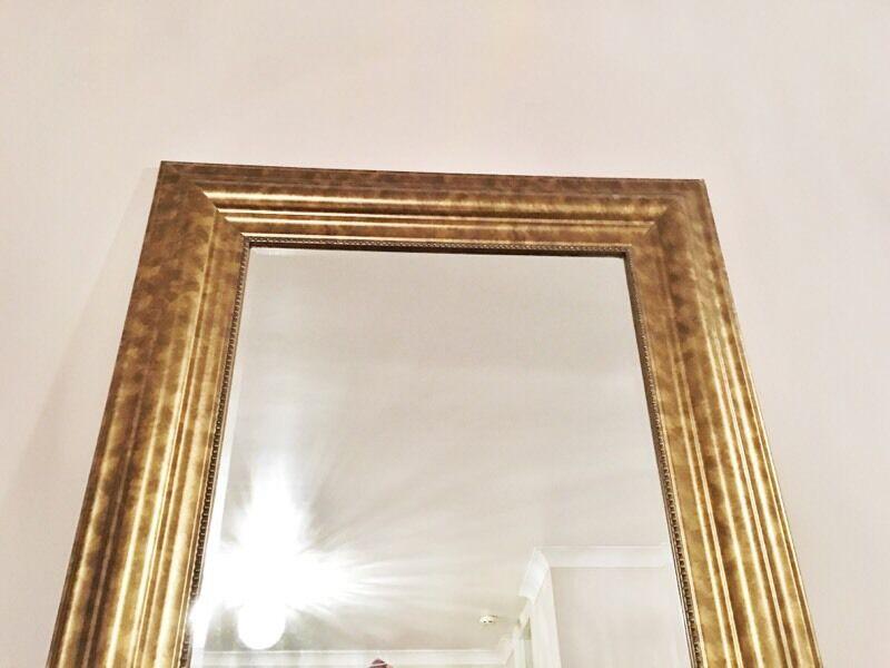 Ikea Large Gold Brass Tall Long Floor Mirror