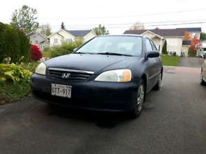 2003 honda civic low km - manual