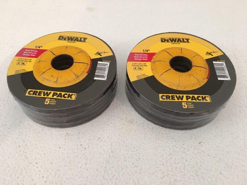 """10 Pieces Dewalt 4-1/2"""" x 1/4"""" x 7/8"""" Metal Grinding Wheels-DW4541-Free Shipping"""