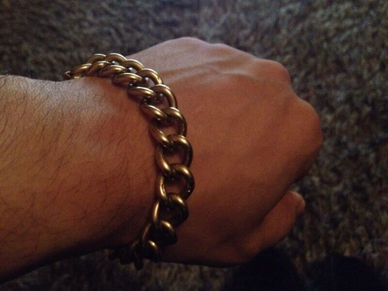 Heavy 9ct Gold Bracelet Albert Chain Style