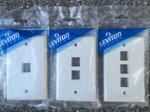 NEW Assorted Leviton and PROVO Phone, Data and Cable Plating