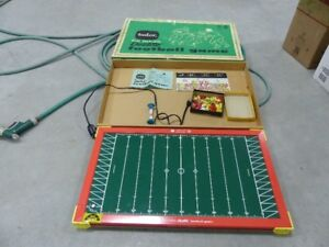 antique tudor electric football game with box,works