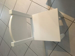 IKEA kids wooden chairs and IKEA plastic stools or chairs