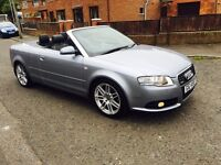 "2008 AUDI A4 NEW SHAPE 2.0TURBO SE TFSI SOFT ELECTRIC TOP """"290 BHP ""CONVERTIBLE £7400"