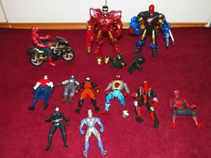 Marvel and DC action figures
