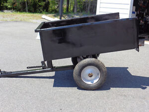 garden cart that dumps for lawn tractor