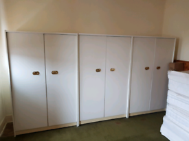 3 x white Strong wardrobes