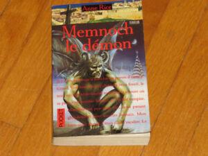 LOT (3) livres ANNE RICE MENNOCH- MOMIE-TALTOS