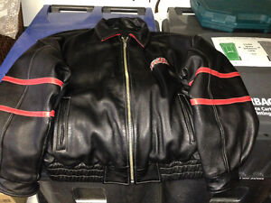2007 FOUNDER'S CLUB MEMBER NIAGARA ICE DOGS ALL LEATHER JACKET