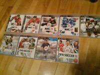 GOOD CONDITION: PS3 Games NHL 09 10 11 12 13 15 Fifa 11 12 13...