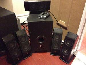 Logitech 5 speaker and Subwoofer