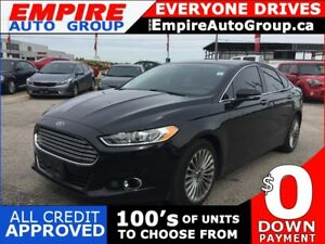 2016 FORD FUSION TITANIUM * AWD * LEATHER * NAV * REAR CAM * HEA