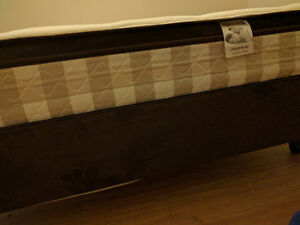 Brand new (mattress+ wooden base+ stand with wheels).
