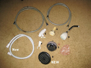 Shower head/ hoses, Delta shower heads and accessories.