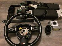 Audi a5 steering+seat belts set+key reader