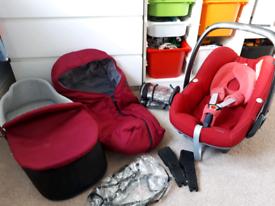 Orb pram and car seat