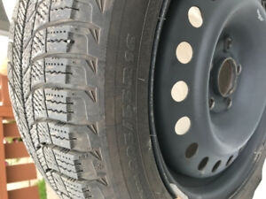 4 Michelin XICE tires and Steel wheels