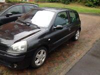 Black 2005 Renault Clio £850 OVNO