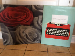 2 Canvas Pictures for sale