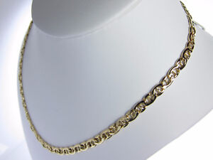 14k Italian Yellow Gold Flat Anchor Link Chain