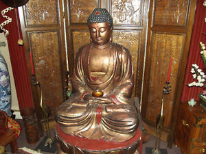 Buddha Oriental Chinese Japanese Carved