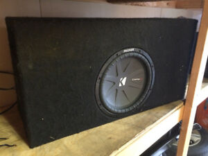 "Ported 12"" Sub Box with Kicker Comp-R Sub"