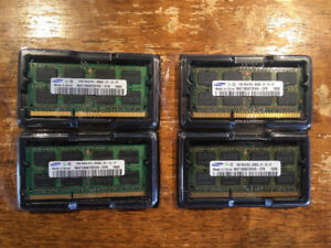 SAMSUNG 4x2GB PC3-8500 DDR3-1066MHz SODIMM 204pin RAM 8GB Total