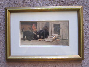 Framed dogs picture