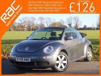 2009 Volkswagen Beetle 1.6 102 PS Luna 5 Speed Convertible Cabriolet Electric So
