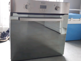 Used single oven Hotpoint SHS33XS