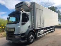 2014 DAF LF 280 Euro 6 31ft Gray Adams fridge box Thermo King T1000 freezer