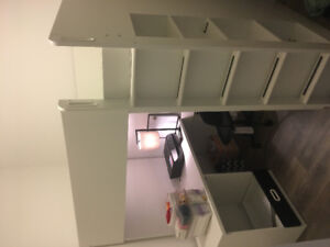 New Ikea Loft bed with study table for sale