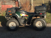 1999 Arctic Cat 300 with Plow / 2 up seat / Front Storage /Winch