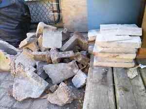 Free cement block bits