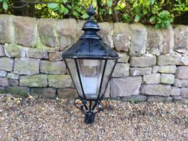 Large reclaimed Victorian style lamp top/ street light/lantern garden
