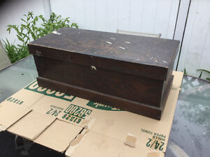 Antique Solid Wood Toolbox