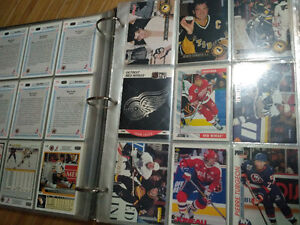Binder with tons of hockey cards!