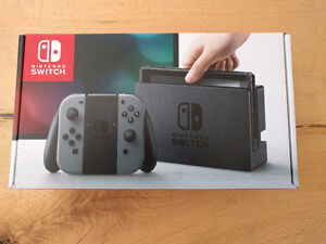 BRAND NEW NINTENDO SWITCH WITH GRAY JOYCON FOR SALE