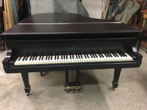 "Beautiful 1929 New York Steinway M (5'8"") in Satin Black"