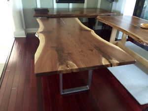 Rustic live edge, barnboard, tables benches desks cabinets