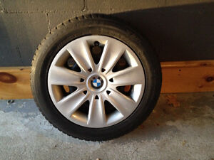 """16"""" BMW OEM steel wheels with hub caps and run flat tires"""